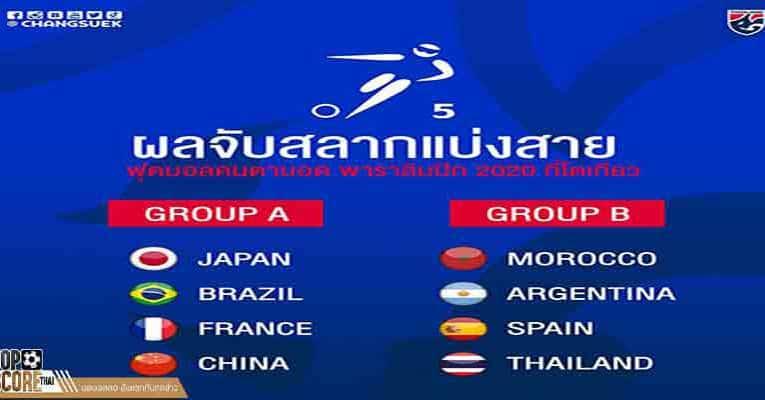 ทัพฟุตบอล พาราลิมปิกไทย เข้าร่วมแล้ว อยู่สายบี